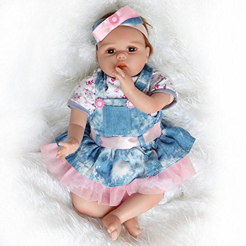 QXMEI Soft Tape Körper Reborn Puppe 55cm Simulation Baby Doll,55cm