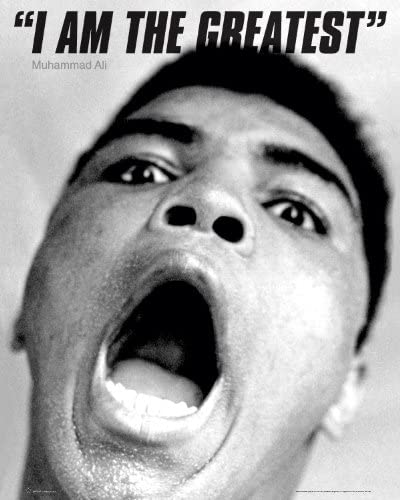 Muhammad Ali I am the Greatest Sports Boxing Max 69% OFF Ultra-Cheap Deals Post Celebrity Icon
