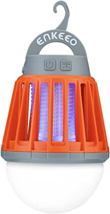 ENKEEO Linterna Camping Antimosquitos Lámpara IPX6 Luz UV 360-400nm Batería 2000mAH Recargable Pórtatil Desmontable