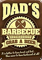 Dad's Barbecueブリキ看板ヴィンテージ錫のサイン警告注意サインートポスター安全標識警告装飾金属安全サイン面白いの個性情報サイン金属板鉄の絵表示パネル