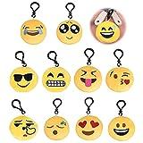 YCZCHE14 Mini emoji llavero 10 unidades Emoji colgante emoji llavero llavero de peluche llavero llavero llavero para niños fiesta cumpleaños colgante decoración accesorios