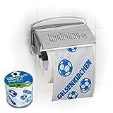 Klopapier Schalker Abpfiff 1 Rolle   Dieses Toilettenpapier Macht das Klo von Dortmund-, Bayern- & Fußball-Fans zur Schalke-Kultschüssel   Geschenkidee für Männer & Freunde
