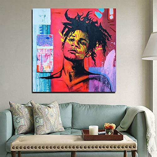 Geiqianjiumai Berühmter Maler männlich Avatar Tapete Leinwand Kunstplakat für Wohnzimmer Home Dekoration Malerei rahmenlose Malerei 70x70cm