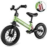 besrey Bicicletta Senza Pedali Ruota Gomma Gonfiabile Bici Senza Pedali con Ammortizzatore Centrale - Verde
