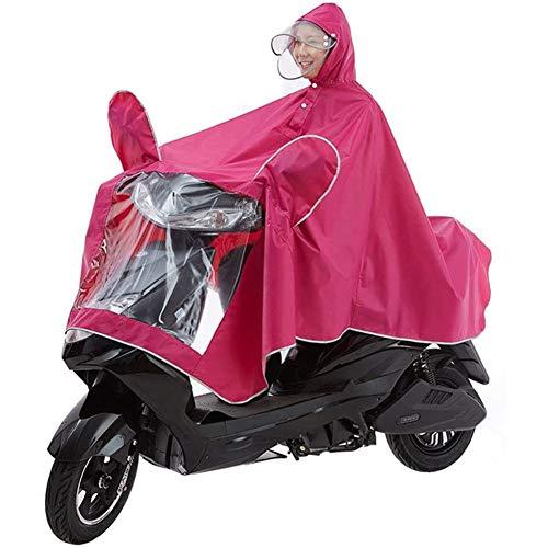 SXFYWYM Outdoor Regenponcho Wasserdichter Leichter Regenmantel Elektromobil-Roller Motorrad Großer Regencape-Mantel, Einpersonen-Motorrad Anti-Fog-regenschutzhülle Mit Spiegelschlitzen