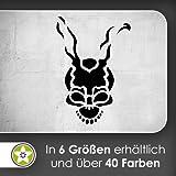 Teufels Schädel Skull Wandtattoo in 6 Größen - Wandaufkleber Wall Sticker