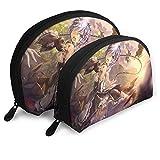 Bolsa de almacenamiento de anime Starting from different World Shell Bolsas portátiles bolsa de embrague bolsa de aseo de viaje monedero organizador con 2 piezas