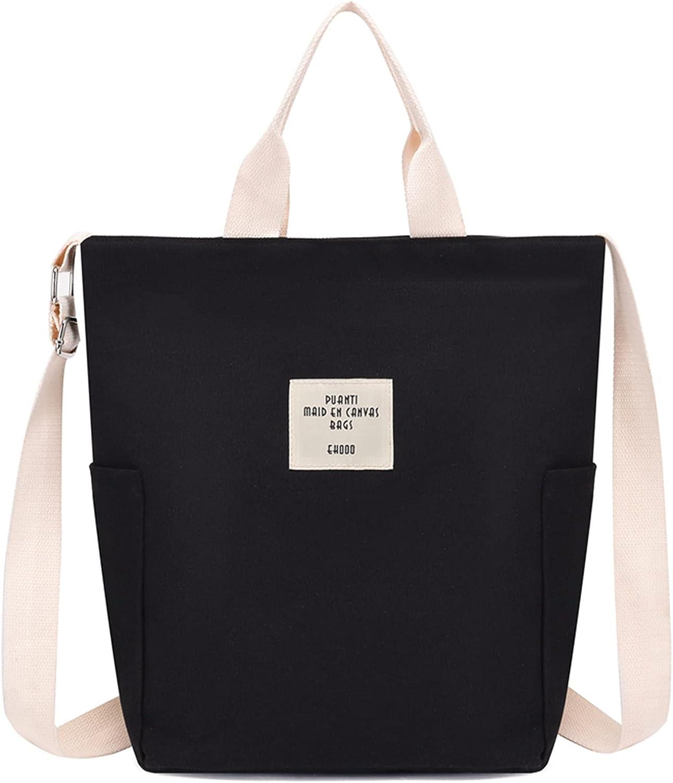HANDAFA Canvas Satchel Handbag For Women Fashion Tote Handbag Hobo Purse