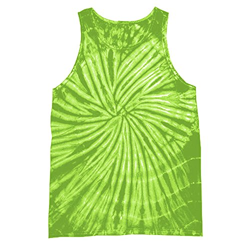 Colortone - Camiseta sin Mangas con Efecto teñido para Mujer (Pequeña (S)) (Espiral Lima)