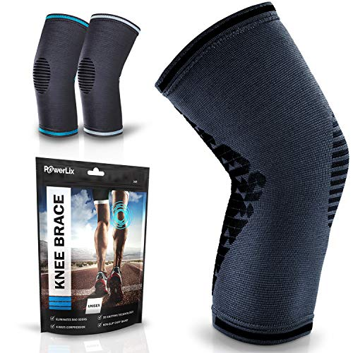 POWERLIX Knee Brace Support – Best Compression Sleeve for Men & Women for Pain Relief– Superior Braces for Meniscus Tear & Arthritis, Please Refer to The Sizing Chart