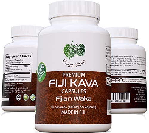 Royal Kava Pure Noble Kava Capsules Highest Grade Fijian Kava Kava Extract...