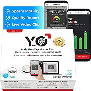 YO Home Sperm Test for MAC, Windows PC and Android Phones | Check Description for Compatibility | Includes 2 Tests | Men's Motile Sperm Fertility Test | Check Moving Sperm and Record Videos (B07FX2R3RM) | Amazon price tracker / tracking, Amazon price history charts, Amazon price watches, Amazon price drop alerts