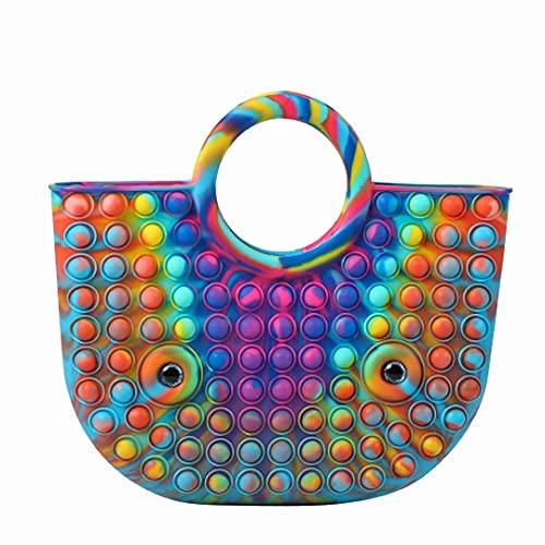 Pop It Purse,Pop It Bag Interesting Decompression , Fashionable and...