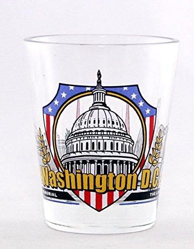 Washington D.C. 3 View Shot Glass