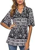 SLYZ Ladies Summer Printed Hedging Short Casual Loose Camiseta De Mujer Top De Mujer