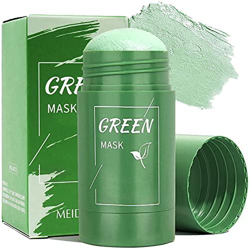 Poreless Deep Cleanser Green Tea Mask, Natural Green Tea Purifying Clay Stick Mask, Deep Cleanse Pore, Improves Skin, for Suitable For All Skin Types For Men Women (1 bottles)