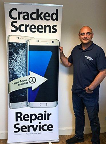FFS Telefoon Reparatie Trek omhoog Banner Stand - Gebarsten schermen Reparatie Service