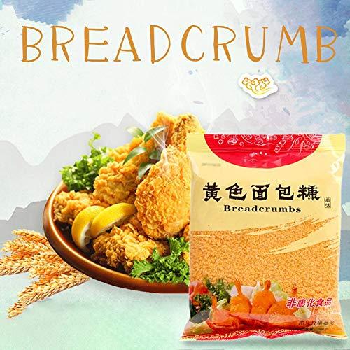 Cokeymove 200g gelbe Brotkrumen, Semmelbrösel Geeignet für Brathähnchen, Gebratenes Garnelenfleisch, Schweinekotelett, Brathähnchenmehl Semmelbrösel Küchenbackzubehör