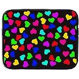 Business Briefcase Sleeve Patrón de Corazones de Colores Funda para computadora portátil Funda para computadora...