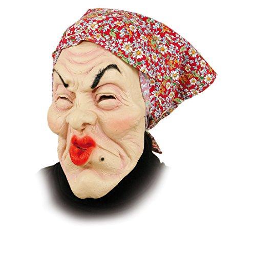 Orlob Gummi Maske Alte Frau - Oma Masken Fasching