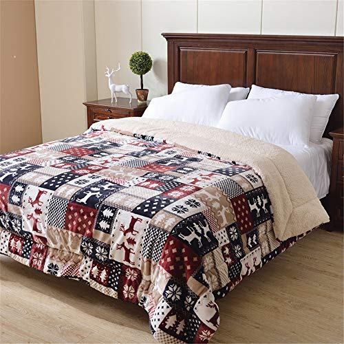 Best Prices! Liweibao-Home Quilt 3-Layer Winter Blanket Coral Fleece Single Double Blanket Thickened...