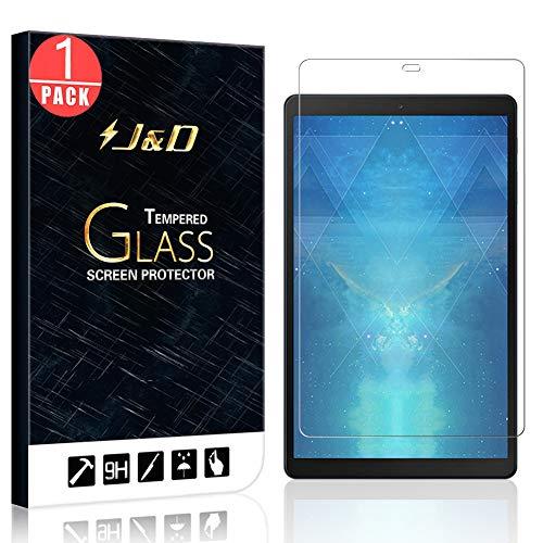 J&D Compatible para Samsung Galaxy Tab A 10.1 inch 2019 Protector de Pantalla, 1-Pack [Vidrio Templado][NO Cobertura Completa] Cristal Templado Protector de Pantalla - [NO Para Galaxy Tab A 10.1 2016]