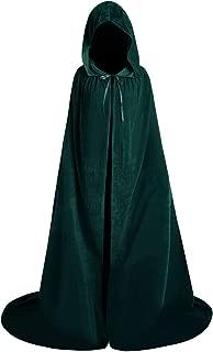 Halloween Velvet Full Length Hooded Robe Cloak Cosplay Costume Cape