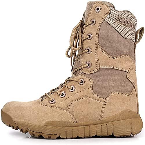 Botas TáCticas Alta para Hombre Antideslizantes Aire Libre Resistentes Al Desgaste Zapatos de Senderismo En Desierto Botas Militares de Combate Impermeables Transpirables