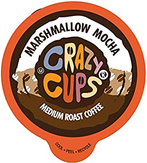 Crazy Cups Flavored Coffee Pods, Marshmallow Mocha, Chocolate Marshmallow Coffee, Single Serve Coffee for Keurig K Cups Ma...