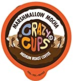 Crazy Cups Flavored Coffee Pods, Marshmallow Mocha, Chocolate Marshmallow Coffee, Single Serve Coffee for Keurig K Cups Machines, Hot or Iced Coffee, Medium Roast Coffee in Recyclable Pods, 22 Count