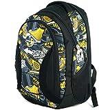 Zaino scuola di grandi dimensioni per ragazzi e ragazze 40 litri yeepSport S106dx (graffiti yellow stylez)