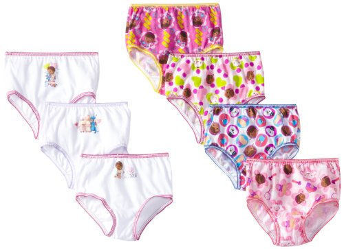 Disney Little Girls'  7 Pack Doc McStuffins Underwear, Assorted, 4T