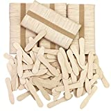 CZWESTC 500 Pcs Wooden Ice Cream Spoons, Mini Disposable Tasting Spoons Wooden, Small Dessert Spoons, Mini Spoons for Crafts, Tasting, Sampling (3 Inch)