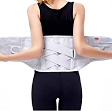 RENTOOR Verstelbaar Lumbale Brace Lager Terug Ondersteuning Zelfverwarmend Double Pull Voor Dames En Mannen Ontlasten Pijn...