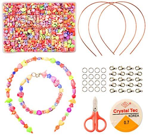 Moji Giocattoli per Bambini Fai da Te Perline Craft Kit 1000 Piece Set di Pezzi