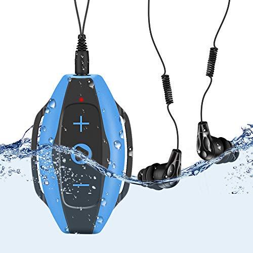 AGPTEK Swimming MP3 Player IPX8 with Waterproof Headphones &...