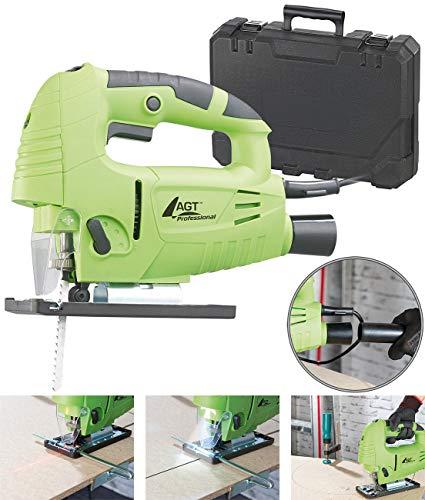 AGT Professional Werkzeug: Professionelle Laser-Stichsäge mit LED-Licht, 3.000 U/Min, 800 Watt (Pendelhub-Stichsäge)
