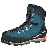Scarpa Mont Blanc GTX, Botas de montaña Hombre, Lake Blue Gore-Tex AGM Essential AC, 39 EU
