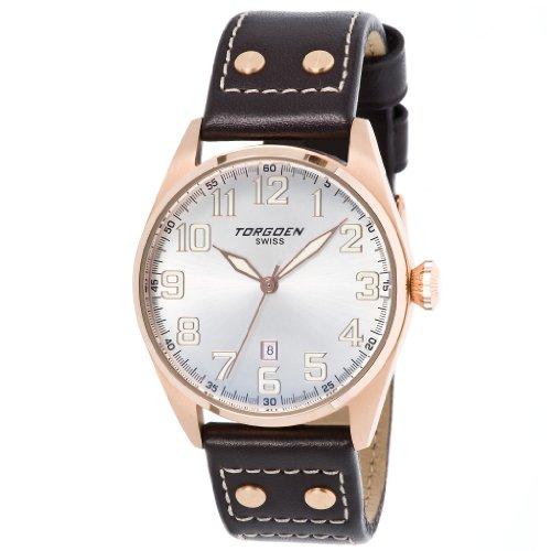 Torgoen Herren-Armbanduhr Analog Leder braun T28104