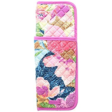 Vera Bradley Iconic Curling and Flat Iron Cover, Signature Cotton, Superbloom