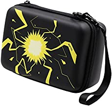 Rayvol Carrying Case for Pokemon Trading Cards, Fits up to 400 Cards, Card Holder with Hand Strap & Carabiner, Black