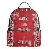 Weihnachtsgrüße, Schulrucksack aus Segeltuch, großes Fassungsvermögen, Freizeitrucksack für Kinder, Mädchen, Jungen, Kinder, Studenten, 3–9 Jahre