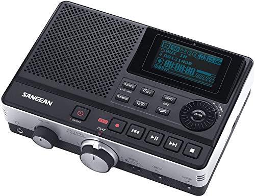 DAR101 Sangean Digital Voice Recorder - Diktiergerät für Aufnahmen und Musik - LCD - Schwarz