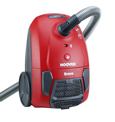 Hoover 6463672 Brave BV71_BV10 011 Bodenstaubsauger 700W 360° Schlauchanschluss rot, 2.3 liters