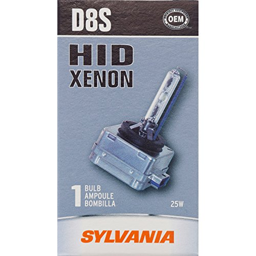 SYLVANIA - D8S Basic HID (High Intensity Discharge) Headlight Bulb - High Performance Bright, White, and Durable Lamp (Contains 1 Bulb)