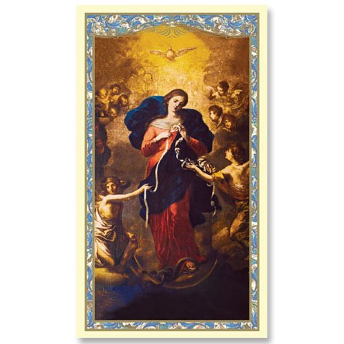 Mary Untier of Knots Holy Card - Powerful and Miraculous Prayer Card (10 pack)