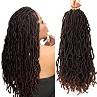 """Youngther New Faux Locs Crochet Hair 18 inch Most Natural New Soft Locs Crochet Hair 6 Packs Synthetic Crochet Hair for Black Women(18""""6Pcs-M30)"""
