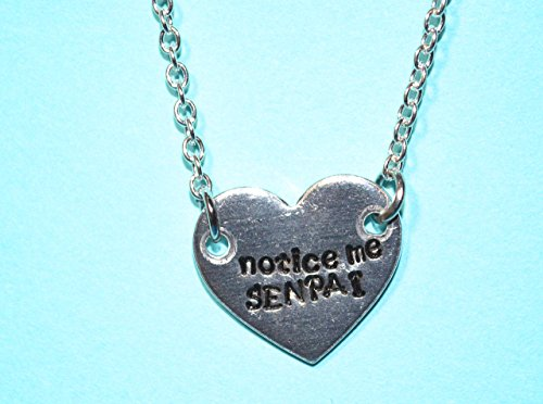 custom heart necklace metal stamped aluminum and surgical steel chain