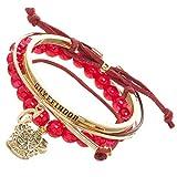 Harry Potter Gryffindor Arm Party Bracelet Set,Red & Gold,One Size