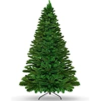 KKtick 7.5ft Artificial Christmas Tree with Durable Metal Stand